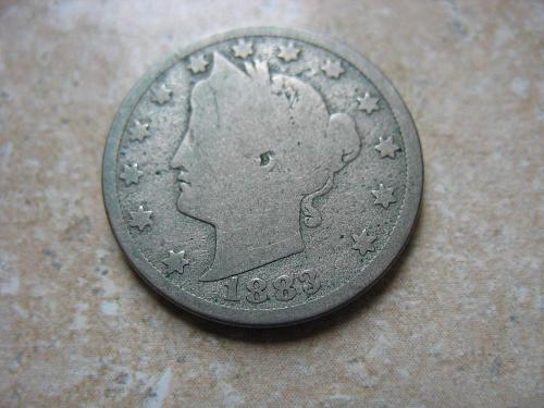 1883 P Liberty Nickel - With Cent