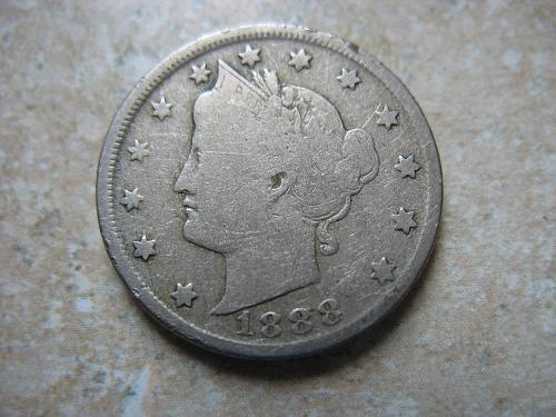 1888 P Liberty Nickel