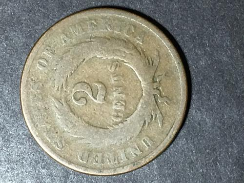 1867 two cent piece Item 0818031