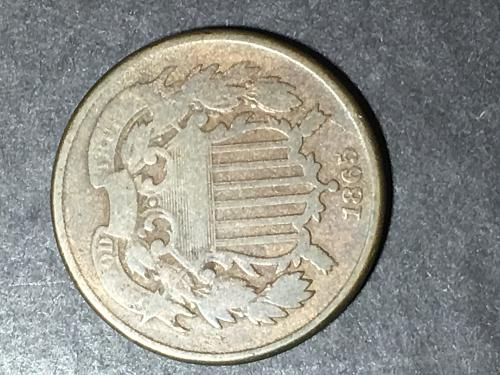 1865 two cent piece Item 0818036