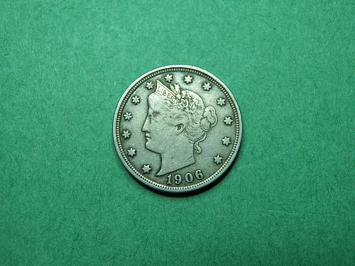 1906 Liberty V Nickel Very Fine Coin   q70
