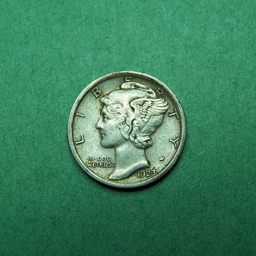 1923 P Mercury Dime Extra Fine Coin   q88