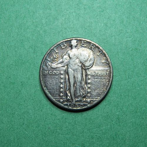 1930 P Standing Liberty Quarter Very Fine + Coin   R02