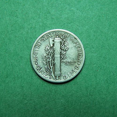 1920 S Mercury Dime Very Fine + Coin   R16