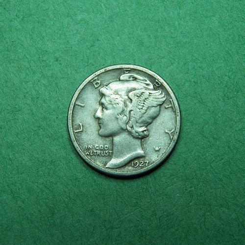 1927 S Mercury Dime Very Fine + Coin   R20