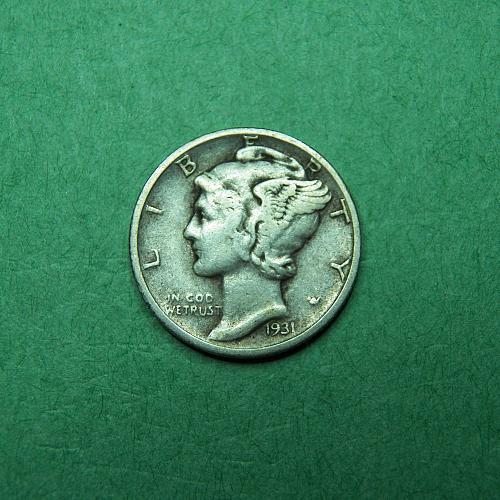 1931 D Mercury Dime Very Fine Coin   R22