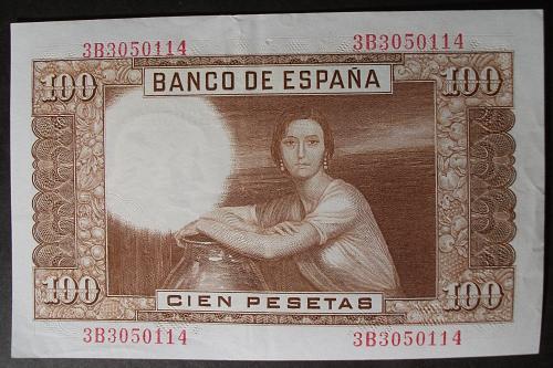 Spain P145a 100 Pesetas VF