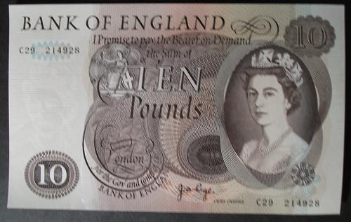 Great Britain P376c 10 Pounds AU+