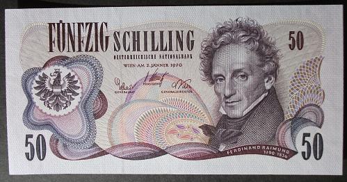 Austria P143a 50 Schilling UNC65