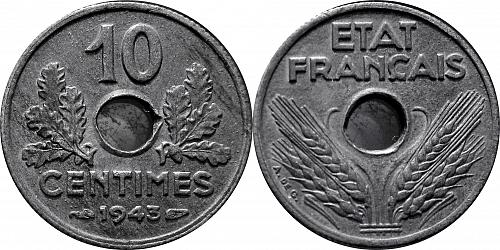 France 1943 10 Centimes  0256