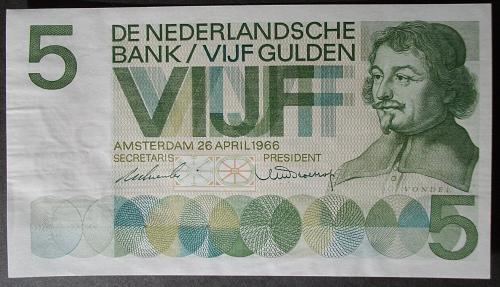 Netherlands P90a 5 Gulden VF+