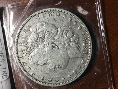 1878 S Morgan Dollar  VAM 22 R S set to left Item 0818139