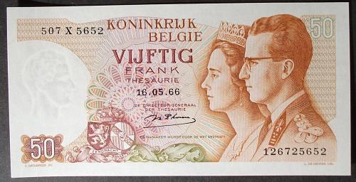 Belgium P139 50 Francs UNC64