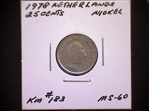 1978 NETHERLAND  TWENTY- FIVE CENTS