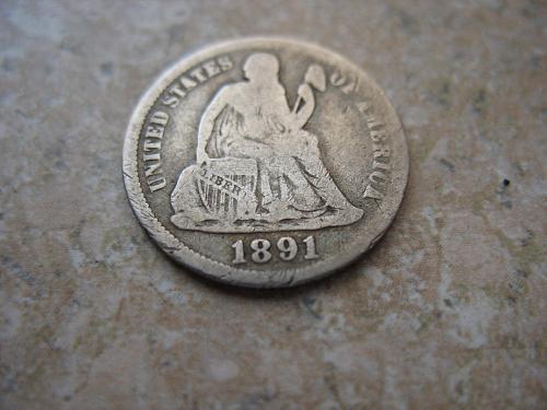 1891 P Seated Liberty Dime