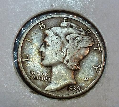 1939- P Extra Fine Mercury Dime  XF ( 1591)