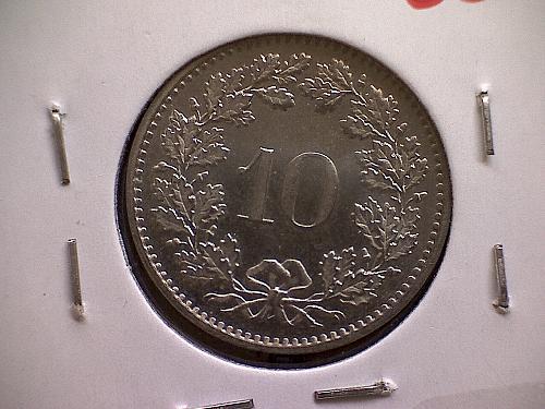 1981 SWITZERLAND TEN RAPPEN