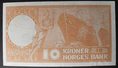 Norway P31d 10 Kroner XF