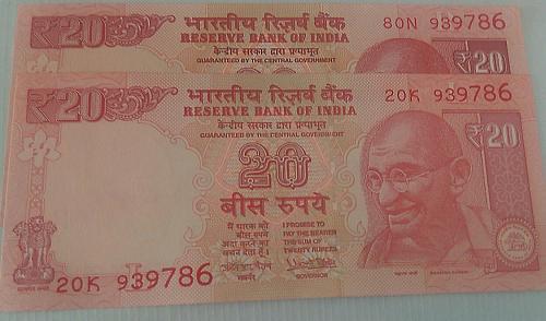 939786 X 2..India UNC notes..