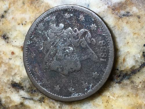 1838 Coronet Liberty Head Large Cent Item 0818332
