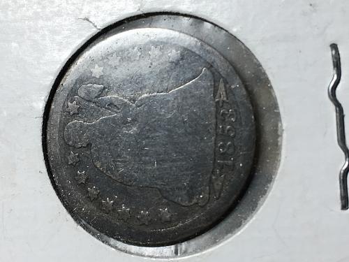 1853 Seated Liberty Dime Item 0818348