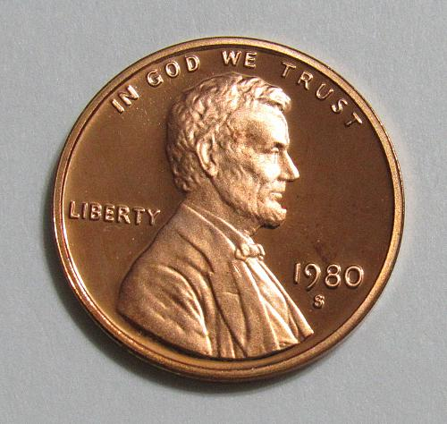 1980-S 1 Cent - Lincoln Memorial Cent (Proof)