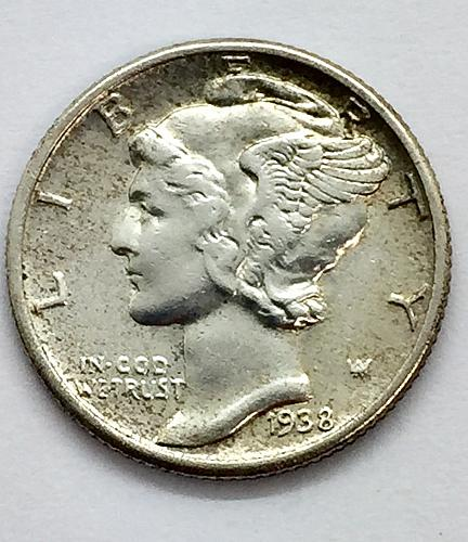 1938 Mercury Dime