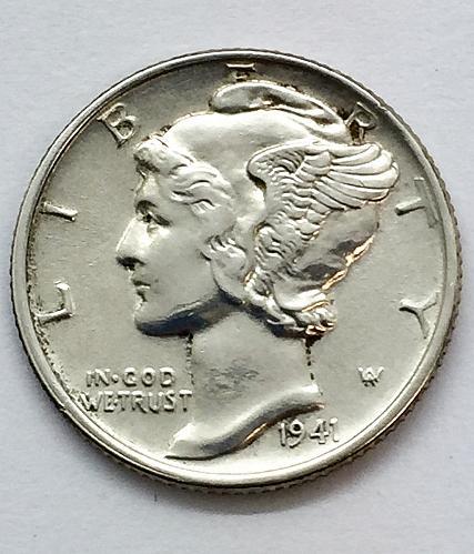 1941 Mercury Dime