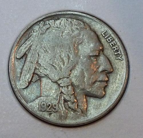 1929-P EXTRA FINE Buffalo Nickel XF Grade ( 4199)
