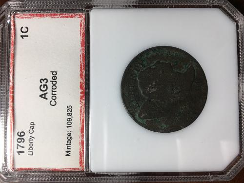 1796 Liberty Cap Large Cent PCi certified