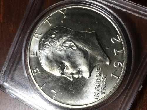 1972 S Eisenhower Silver Clad Dollar