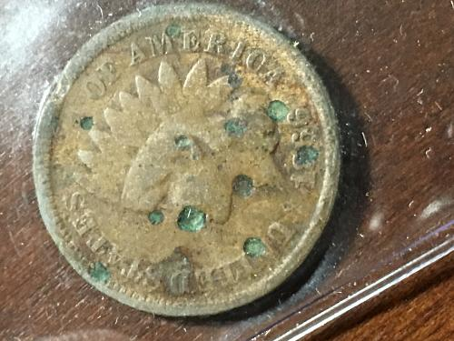1866 Indian Head Cent Item 0918010