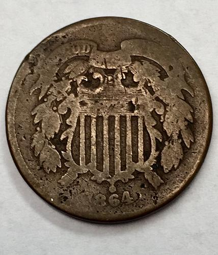 1864 Two Cent Piece - Large Motto
