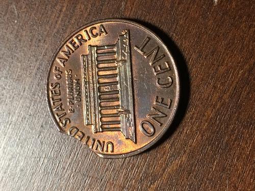 1970 Penny 10% clip Planchet error Item 0918125