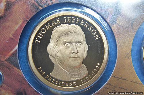 2007 S Presidential Dollars: Thomas Jefferson Proof