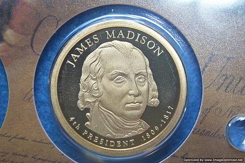 2007 S Presidential Dollars: James Madison Proof