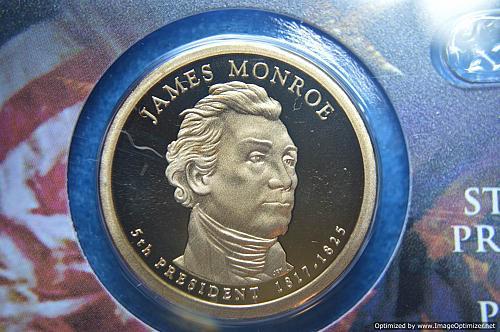 2008 S Presidential Dollars: James Monroe Proof
