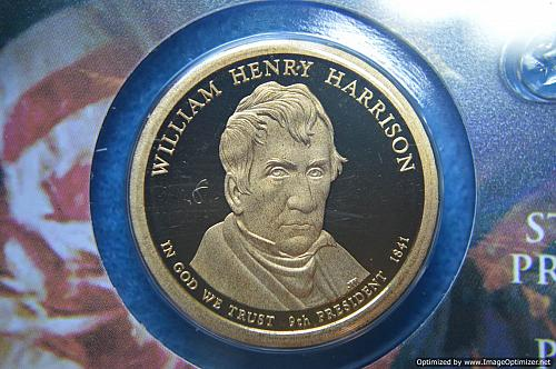 2009 S Presidential Dollars: William Henry Harrison Proof