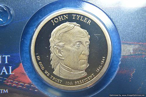 2009 S Presidential Dollars: John Tyler Proof