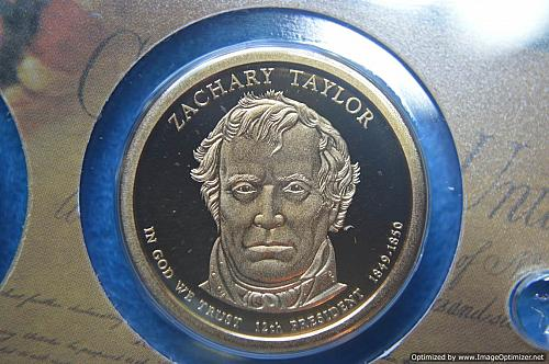 2009 S Presidential Dollars: Zachary Taylor Proof