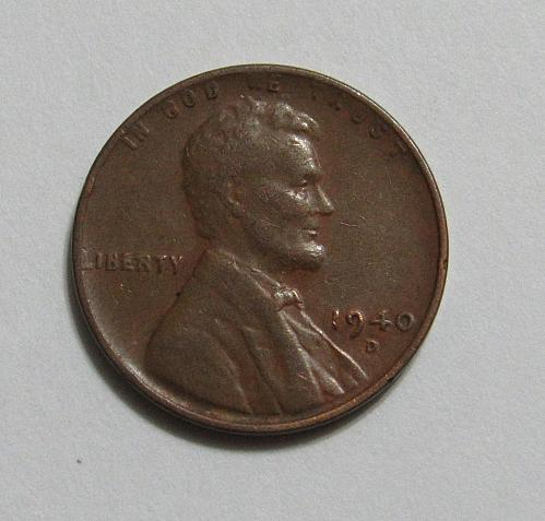 1940-D 1 Cent - Lincoln Wheat Cent