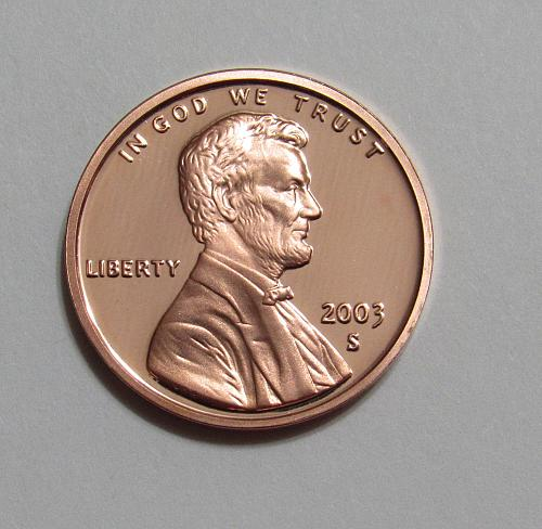 2003-S 1 Cent - Lincoln Memorial Cent (Proof)