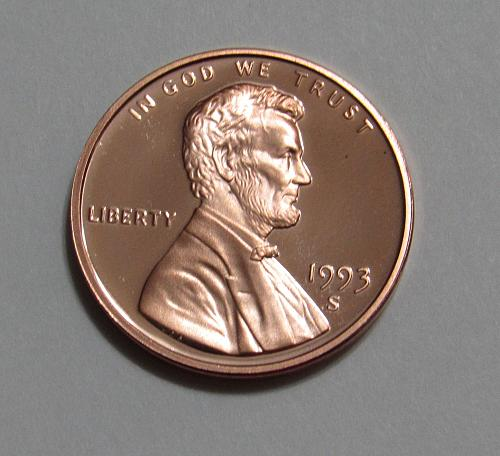 1993-S 1 Cent - Lincoln Memorial Cent (Proof)