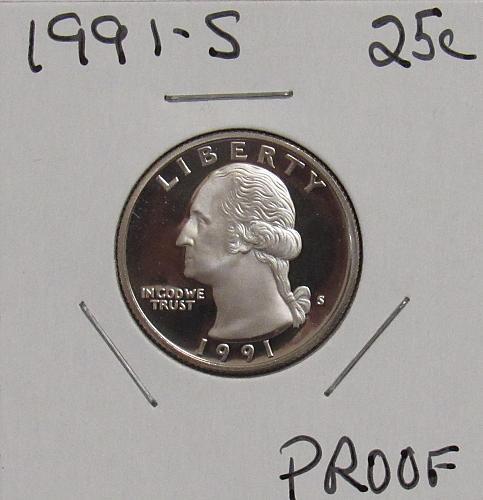 1991 S Proof Washington Quarter