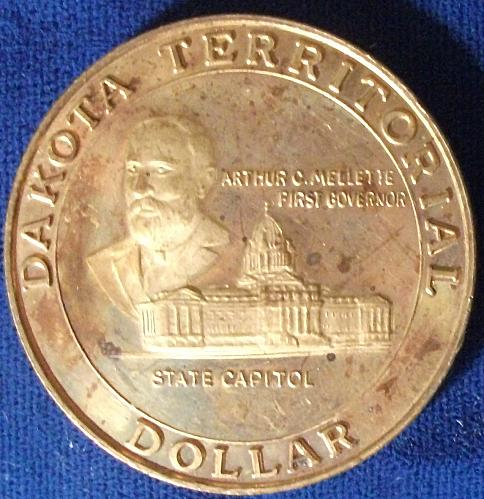 1989 Dakota Territorial Dollar Proof-like