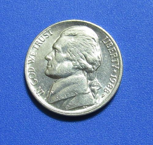 1988-P 5 Cents - Jefferson Nickel