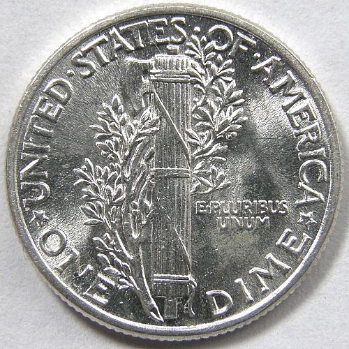 1942 P Mercury Dime #1 Bright White
