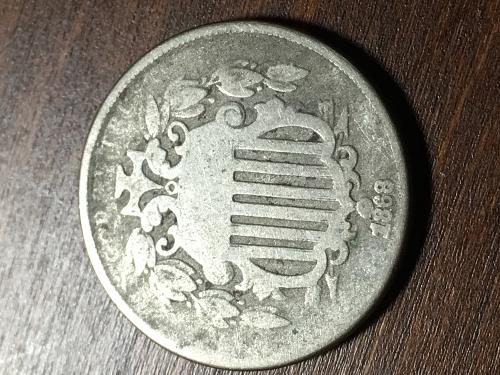 1868 Shield Nickel Item 0918151
