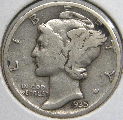 1935 S Mercury Dime #1