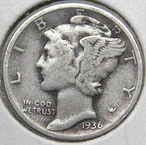 1936 P Mercury Dime #1